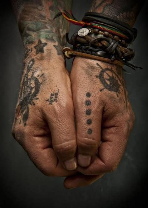 nikkisixx: More of His Hand Tattoos :) (Except the 'I Love