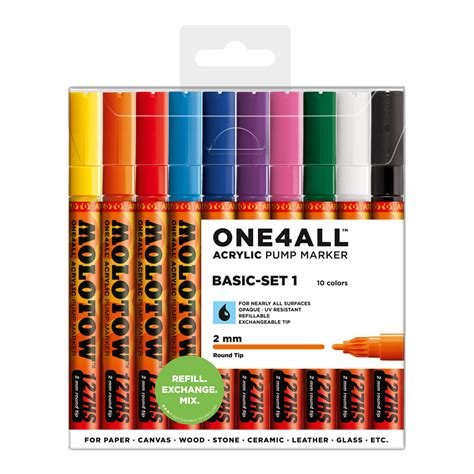Molotow ONE4ALL 127HS Marker 10-pack, Basic Set 1