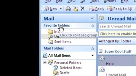 """How To: Add a """"Unread Mail Folder"""" in Microsoft Outlook"""