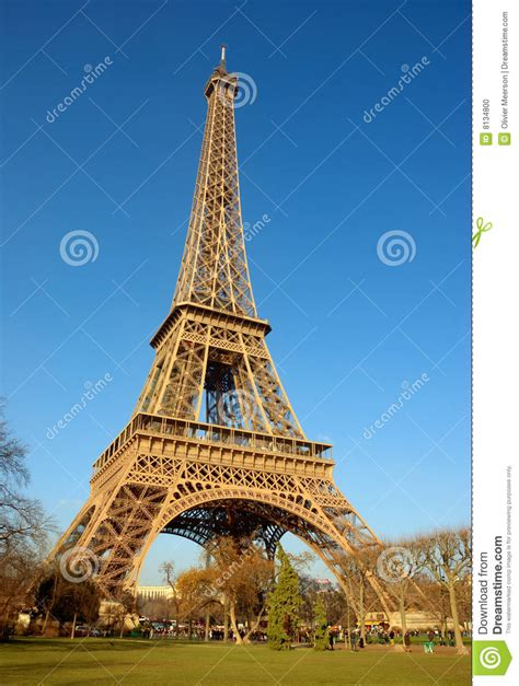Eiffel Tower, Side View Stock Photo - Image: 8134800