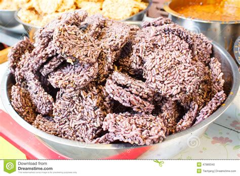 Puffed Rice With Sugar, Thai Snack