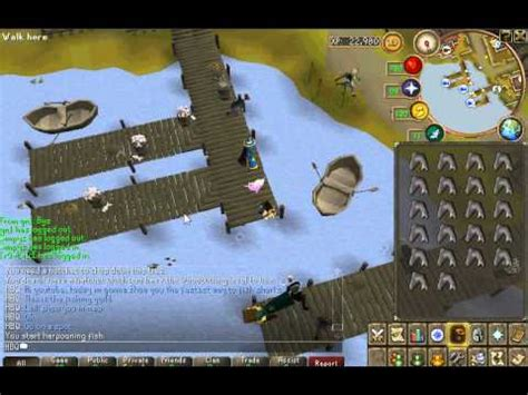 Runescape- Best way to fish sharks (fishing guild) - YouTube