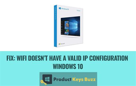 How to Fix: Wifi doesn't have a valid IP configuration