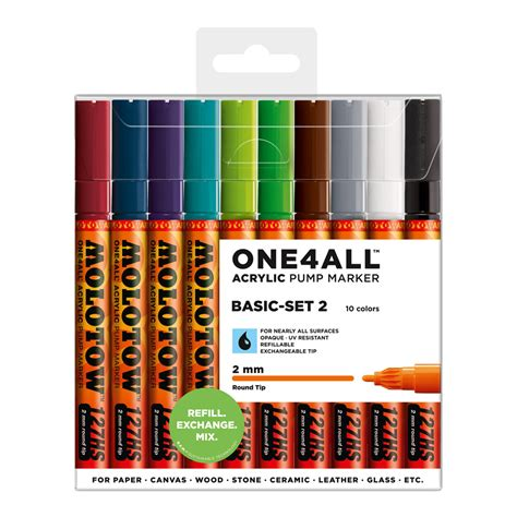 Molotow ONE4ALL 127HS Marker 10-pack, Basic Set 2