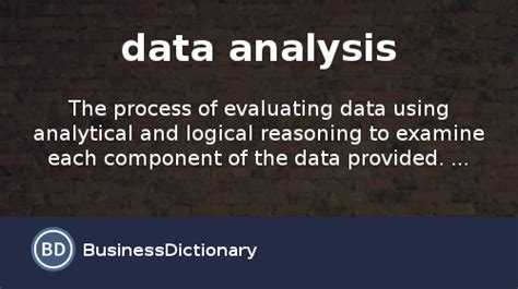 What is data analysis? definition and meaning